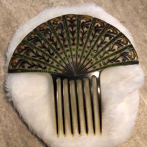 Large vintage Art Deco hair comb